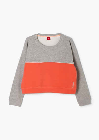 s.Oliver Sweatshirt »Sweatshirt mit Colour Blocking« (1-tlg)