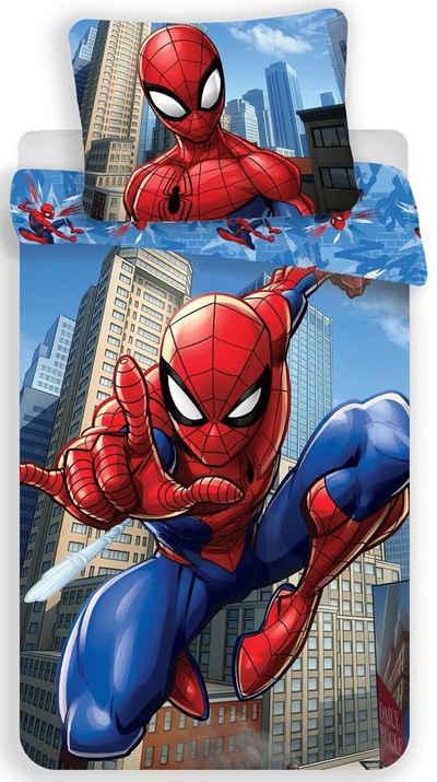 Kinderbettwäsche »Marvel´s Spiderman - Kinder-Bettwäsche-Set, 135x200 & 80x80 cm«, The AVENGERS, 100% Baumwolle