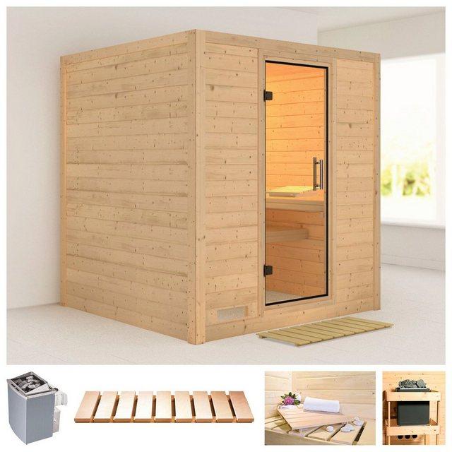 Saunen und Zubehör - KARIBU Sauna »Mojave«, 196x196x200 cm, 9 kW Ofen mit int. Steuerung  - Onlineshop OTTO