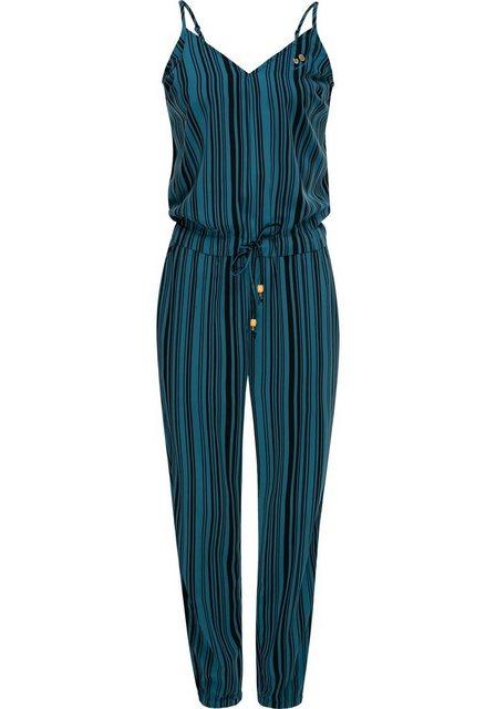 Hosen - Ragwear Jumpsuit »Poemy« schicker langer Damen Overall mit Spaghettiträgern › blau  - Onlineshop OTTO