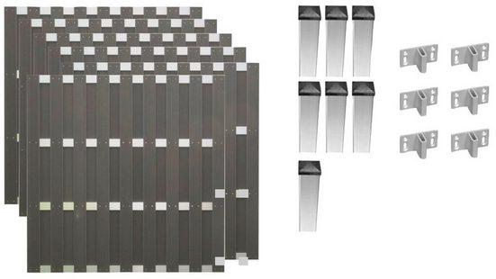 T&J Bohlenzaun »Jackson 4«, (Set), 6 Elemente, LxH: 1129x180 cm
