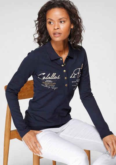 TOM TAILOR Polo Team Langarm-Poloshirt mit aufwendigen Details - NEUE KOLLEKTION