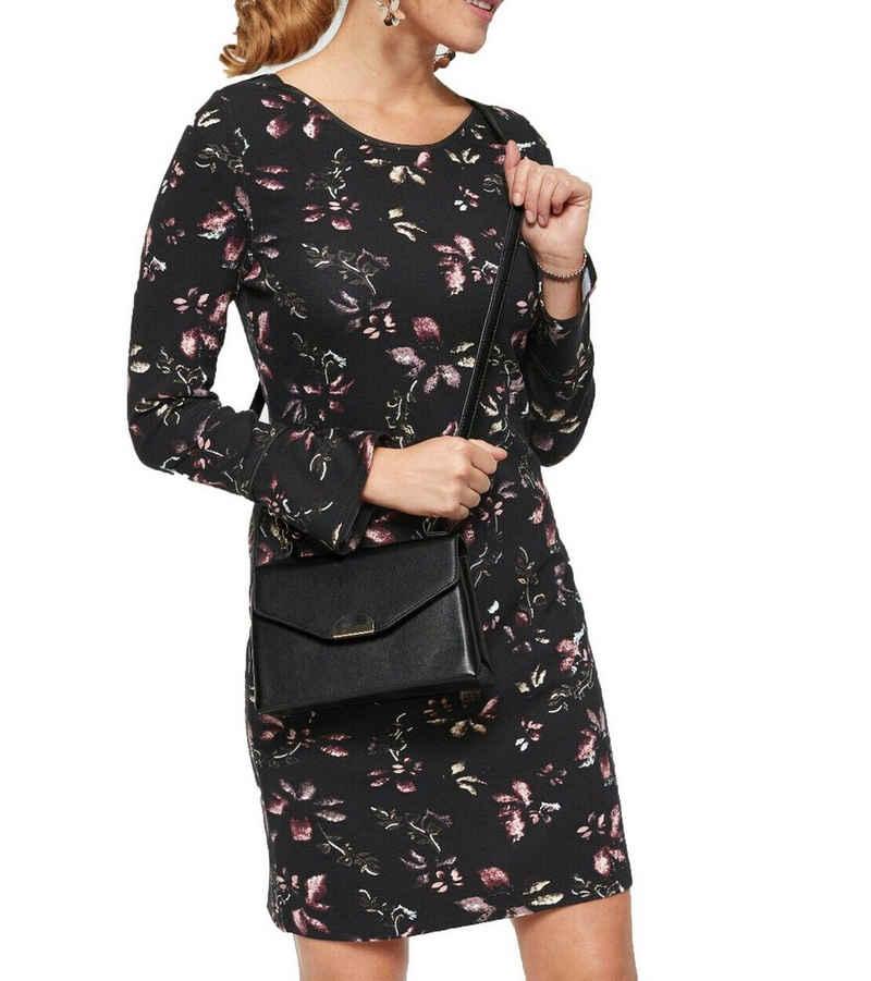 ZABAIONE Minikleid »Zabaione Rosalie Mini-Kleid feminines Damen 3/4-Arm Kleid mit Blumen-Muster Freizeit-Kleid Schwarz«