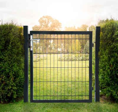 HOME DELUXE Gartentor, BxH: 100x100 cm, für Doppelstabmatten