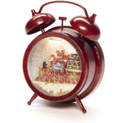 KONSTSMIDE Weihnachtshaus »LED Wecker mit Schneemann und Zug rot«