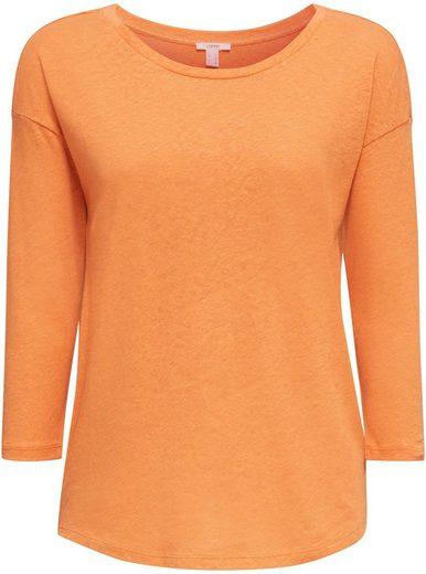 Esprit 3/4-Arm-Shirt mit überschnittener Schulter