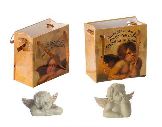 BigDean Engelfigur »24x süße Schutzengel in Tüten − Glücksbringer Engels−Figur − Kleine Engel für Weihnachten, Neujahr, Geschenke − Engelfiguren aus Polyresin zum Verschenken«