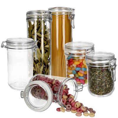 MamboCat Vorratsglas »6er Set Ambala Fido 2x 50cl + 2x 75cl + 2x Spaghetti«