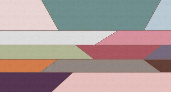 LIVINGWALLS Fototapete »Walls by Patel Geometry 2«, Premium Vlies