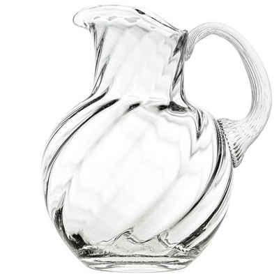 KLIMCHI Wasserkrug »Marika für 2 Liter; Krug / Karaffe aus mundgeblasenem Kristallglas mit Henkel und Eislippe«