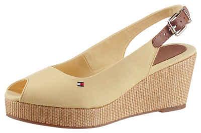 Tommy Hilfiger »ICONIC ELBA SLING BACK WEDGE« Sandalette mit Jutebesatz