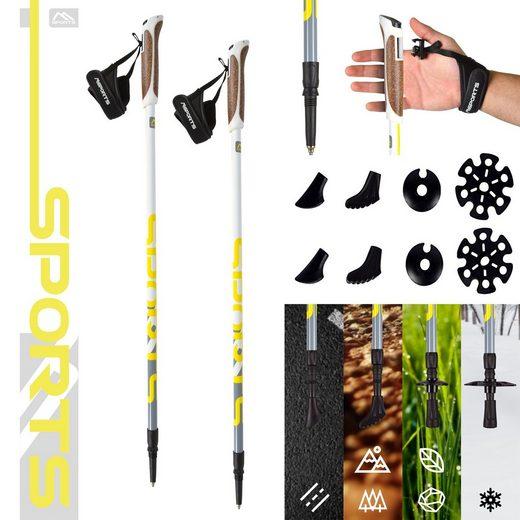 MSports® Nordic-Walking-Stöcke »MSPORTS Nordic Walking Stöcke Premium - hochwertige Qualität - Superleicht - auswählbar mit Tragetasche - Walking Sticks«