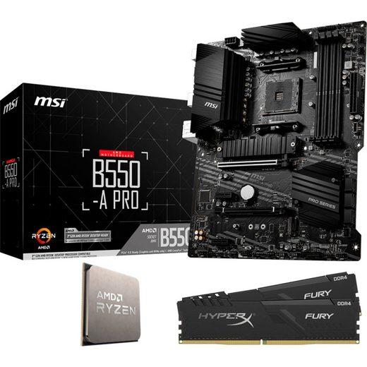 MSI »B550-A PRO + AMD® Ryzen™ 5 5600X + HyperX DIMM 16 GB DDR4-3200 Kit« Mainboard Mystic Light