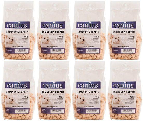 Canius Hundesnack »Lamm-Reis Happen«, 8 x 400 g