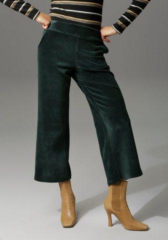Aniston CASUAL Velvetinės kelnės in trendiger Culotte...