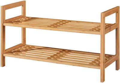 welltime Schuhregal »Bambus«, Breite 70 cm, 2 Ablagen, Stapelregal