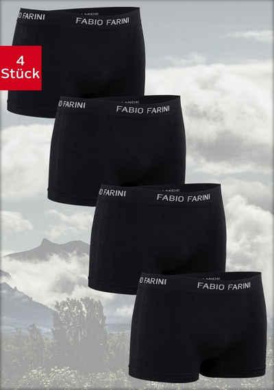 Fabio Farini Boxershorts (4 Stück) im sportlichen Look mit Logoschriftzug
