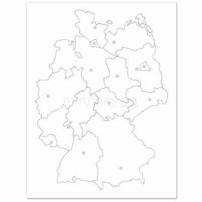 matches21 HOME & HOBBY Holzbaukasten »Lernpuzzle Deutschland Karton Kinder Bastelset«, Komplettes Material-Set, siehe Artikelbeschreibung