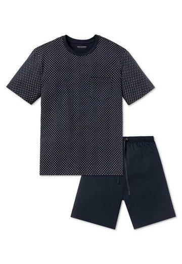 Schiesser Pyjama »Herren Schlafanzug Set - 2-tlg., Shorty, kurz,«