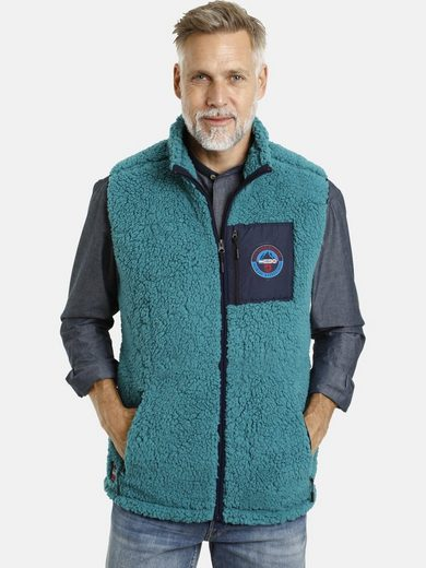 Jan Vanderstorm Fleeceweste »CANUTE« aus weichem Sherpa Fleece