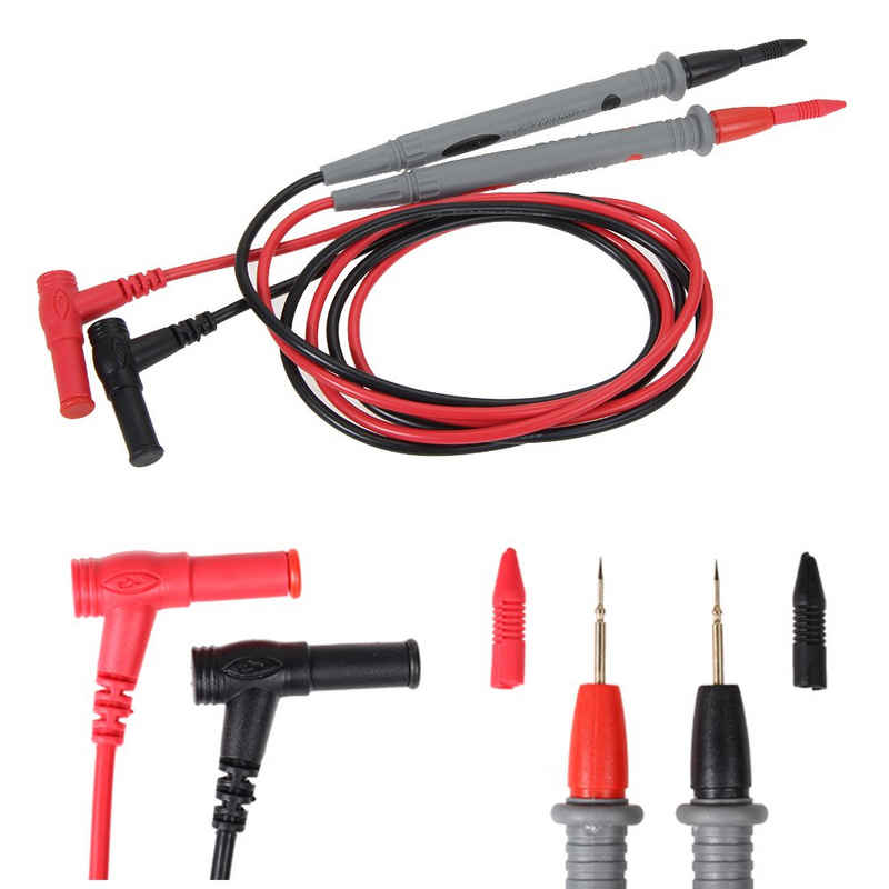 Vodool Spannungsprüfer »Messleitungen Multimeter Kabel Tester Blei Sonde 1 Paar 1000V 20A Multifunktions-Multimeter Sonde Testkabel für Multimeter«