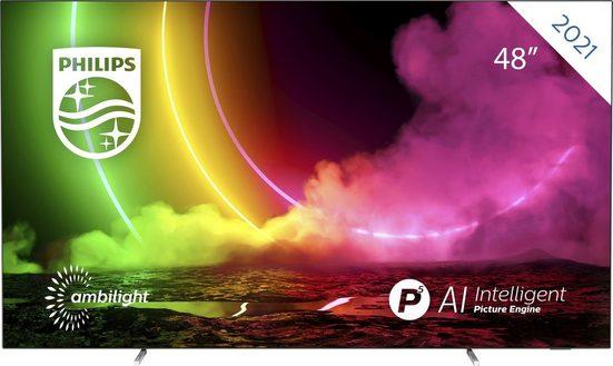 Philips 48OLED806/12 OLED-Fernseher (121 cm/48 Zoll, 4K Ultra HD, Smart-TV)