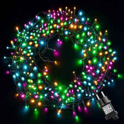 GlobaLink LED-Lichterkette »GlobaLink Aurora Bunt Lichterkette«, 200-flammig, GlobaLink Weihnachtsbeleuchtung bunt, LED Lichterkette Außen mehrfarbig 8 Modi mit Memory Funktion Wasserdicht IP44 Weihnachtsdeko für Innen und Außen weihnachtsbaum, Party, Hochzeit