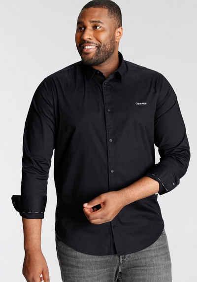 Calvin Klein Big&Tall Langarmhemd »BT-SLIM FIT STRETCH POPLIN«