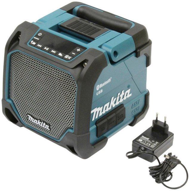Makita DMR202 Bluetooth-Lautsprecher mit Netzteil, ohne Akku und Ladegerät