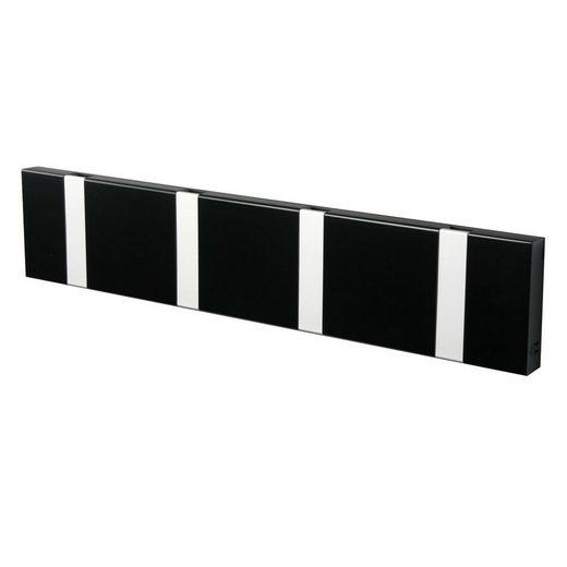 LoCa Garderobe »LoCa Garderobe Knax 4 schwarz (Haken klappbar Alu)«