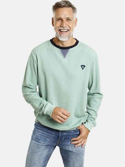 Jan Vanderstorm Sweatshirt »AHTI« leichter Sweat, Waffelstruktur