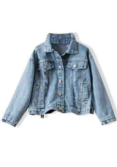 TOPMELON Jeansjacke »Jeansjacke mit gedrucktem Muster«