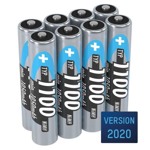 ANSMANN® »Akku AAA 1100mAh Micro NiMH 1,2V – 1000x wiederaufladbar (8 Stück)« Akku 1100 mAh (1.2 V)