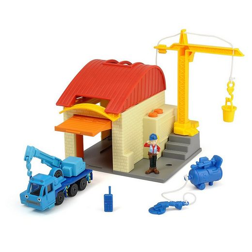 Dickie Toys Actionfigur »Bob der Baumeister Garagen Spielset mit Muk & Leo«