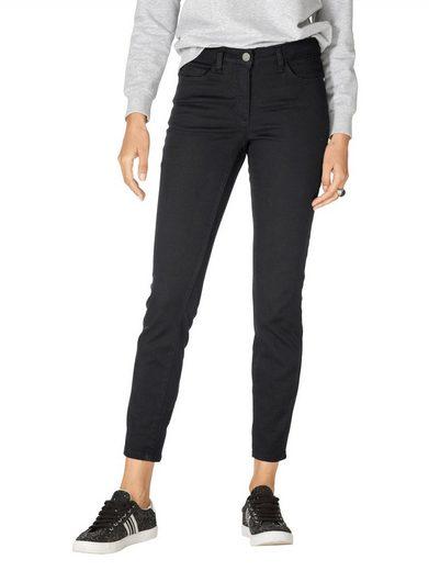 Amy Vermont Jeans mit Reißverschluss und Schleife hinten am Beinende