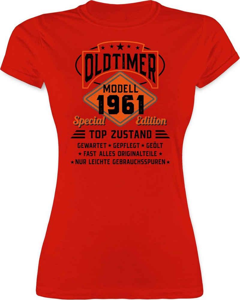 Shirtracer T-Shirt »Oldtimer Modell 1961 - schwarz - Geburtstag Geschenk - Damen Premium T-Shirt« Geburtstagsgeschenk Birthday Party