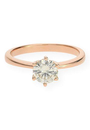 JuwelmaLux Goldring »Ring Gold Damen mit Diamant(en)« (1-tlg), Rotgold 750/000, inkl. Schmuckschachtel