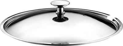 PINTINOX Universaldeckel »Professional«, (1-tlg), mit Löffelaussparung, Edelstahl 18/10, spülmaschinengeeignet
