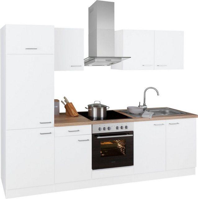 Einbauküchen - OPTIFIT Küchenzeile »Iver«, 270 cm breit, inkl. Elektrogeräte der Marke HANSEATIC, wahlweise mit oder ohne vollintegrierbaren Geschirrspüler, extra kurze Lieferzeit  - Onlineshop OTTO