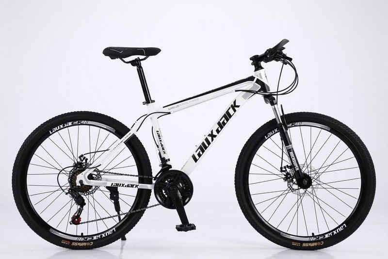 Lauxjack Mountainbike »Fahrrad 26 Zoll Mountainbike MTB, Shimano, Scheibenbremse«, 21 Gang, Kettenschaltung, (50-tlg)