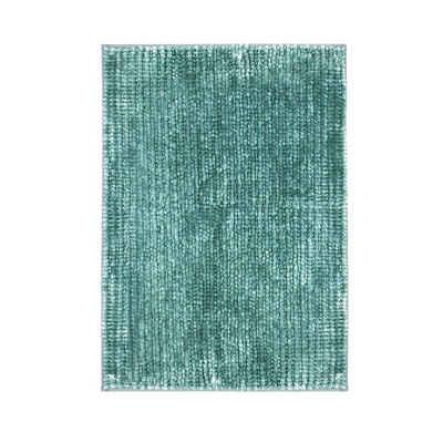Badematte »Coral Pastellblau« casa pura, Höhe 20 mm, Chenille-Struktur, Maschinenfest