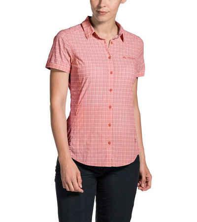 VAUDE Hemdbluse »VAUDE Seilland 2 Wander-Bluse funktionelle Damen Hemd-Bluse aus nachhaltigen Materialien Wander-Hemd Orange kariert«
