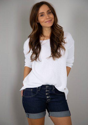 Please Jeans Jeansshorts »P 88A« mit markanter Knopfleiste