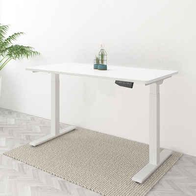 FLEXISPOT Schreibtisch »EB2(ED2)«, Elektrisch Höhenverstellbarer Schreibtisch, Bürotisch inkl. Tischplatte, mit Memory-Steuerung und Softstart/-Stop& integriertes Anti-Kollisionssystem, Farben und Größe auswählbar