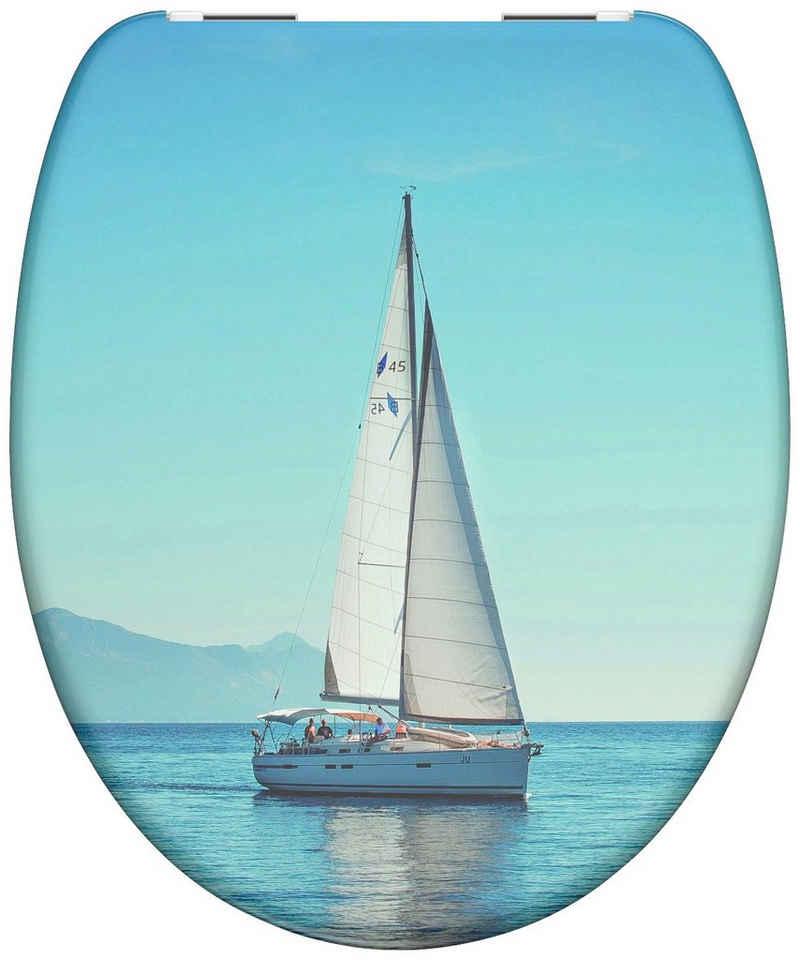 Schütte WC-Sitz »Sailing«, aus Duroplast mit Absenkautomatik