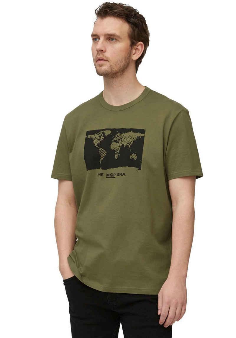Marc O'Polo T-Shirt Weltmotiv
