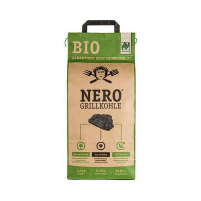 NERO Kohlekorb »BIO Grill-Holzkohle - 2,5kg Sack - Garantiert ohne Tropenholz - Holz aus Deutschland«