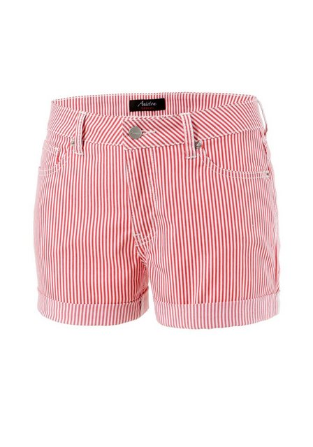 Hosen - Aniston CASUAL Shorts im Streifen Look › rot  - Onlineshop OTTO