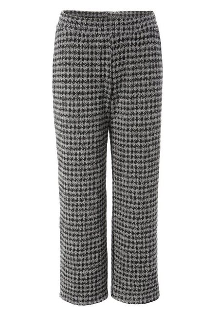 Hosen - Aniston CASUAL Culotte im Hahnentritt oder Karo Muster › schwarz  - Onlineshop OTTO