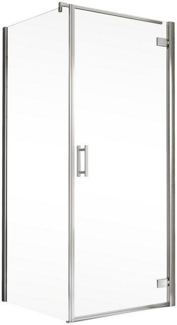 Duschen und Zubehör - Schulte Eckdusche »Toura«, BxT 80x80 cm, Einscheibensicherheitsglas, Höhe inklusive Stabilisationsbügel 2040 mm  - Onlineshop OTTO